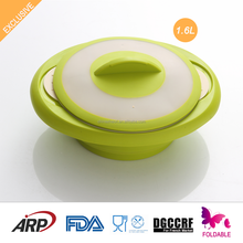 Collapsible, Non-stick, Non-Toxic, BPA FREE, Double color lids, Odorless, Silicone Steamer, FDA, LFGB, DGCCRF