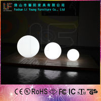 Floating LED Small Swimming Pool Lighting Ball /16 Colors Waterproof IP68 LED Decoration/ Rechargable RGB LED Glowing Ball