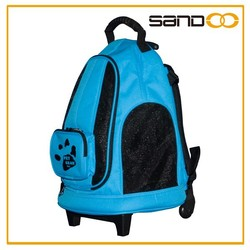 2015 china supplier fashionable lovely pet carrier bag, pet carrier with wheels