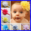 Cute kids flower hair accessories baby elastic hair band
