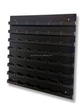 48 Pocket Black w/ Black Acrylic Business Card Holder Wall Mount