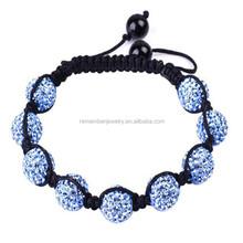 SRB0012 Top Selling Products 2015 Light Blue Adjustable Band Bracelet Buddhas Eyes Soft Ceramic Beads Bracelet