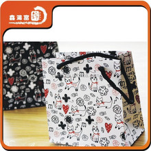 cute wholesale custom printed small shopping bag