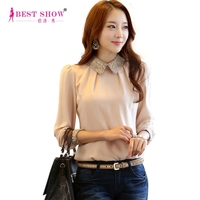 Long Sleeve Office Lady OL Shirts Autumn New Arrival Plus Size Chiffon Blouses Casual Fashion Elegant Ladies Tops 2801