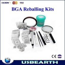 Universal bga reballing kits Direct Heat Stencils + solder balls, flux, scraper, brush, tweezer hot sale