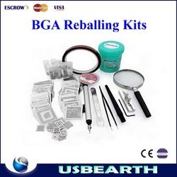 Universal bga reballing kits Direct Heat Stencils + solder balls, flux, scraper, brush, tweezer hot sale