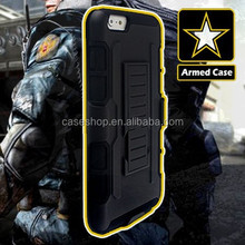 Rugged Armor Holster Case Cover case For iphone 6 with Kickstand and Locking Belt Swivel Clip
