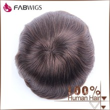Fabwigs new top quality hot sale large stock fast shipping color #4 hair toupee for men
