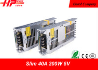 best selling items Guangzhou factory constant voltage single output 40a 200w 5v portable 220v battery power supply