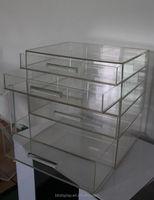 clear acrylic 4 tier plastic storage drawer multi-drawer