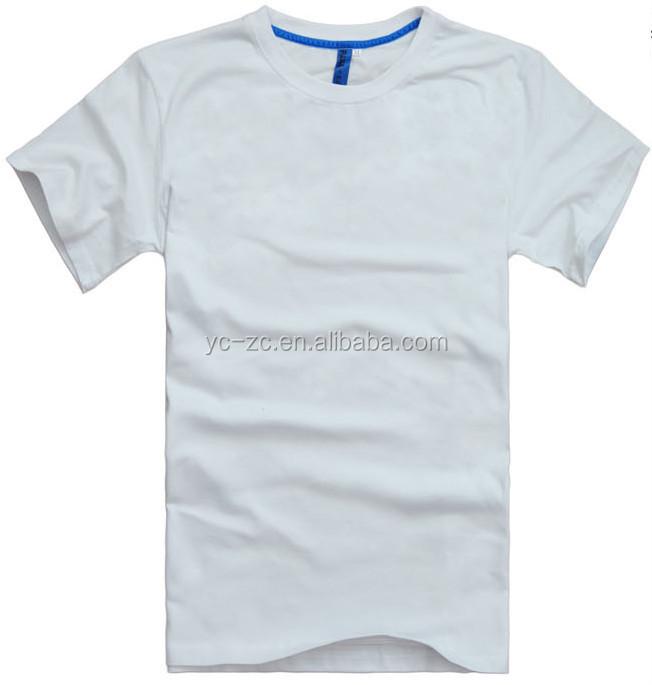 2015 cheap bulk plain t shirt wide neck men oem custom for White t shirt bulk buy