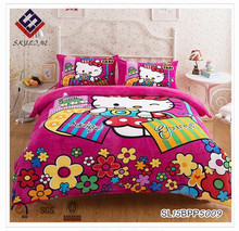 Kids hello kitty high weight and large side cashmere flannel bedding