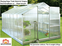 Clip Easily Polycarbonate Greenhouse PC Panels for garden greenhouses