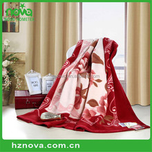 Bottom price wholesale animal printed mink blanket