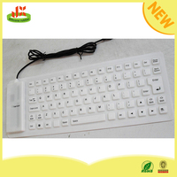 Foldable silicone 85 key USB flexible waterproof mini wireless keyboard