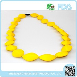 Top grade top sell New style stylish food grade silicone chew bead necklace