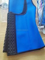 Blue &Pink Latex Rubber Waist Trainer Cincher Vest Corset Body Shaper Sport Girdle xs-3xl