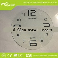 Stainless Steel Wall Clock Parts / digital glass / 5.08cm7.62cm /20cm metal clock insert