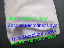 4 Layer Natural Antibacterial Bamboo Inserts For Cloth diapers
