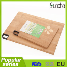 New product organic bamboo cutting board set/ bamboo chopping board with engraving art