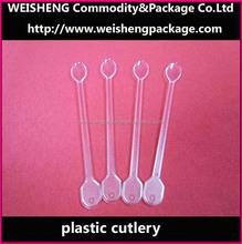 Disposable Stirring Mixing Spoon Set/ Salad Mixing Spoon/Plastic Long Handle Spoon Plastic spoon stirring