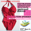 new waterproof fabrics Custom design Lady Swimming Suits padded Swimwear Swimsuit Bikinis