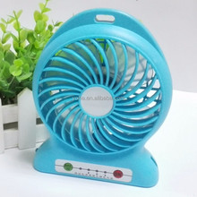 Portable Mini USB Fan power by Rechargeable Battery Provided Ideal for Hot Summer Outdoor Travelling