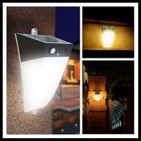 Warm White Ip65 Outdoor Solar Led Wall Mounted Decorative Lighting