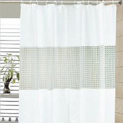 3d printing curtain PEVA patchwork solid color shower curtain, new design curtain, metallic shower curtain