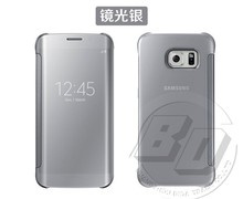 Luxury Clear View Mirror Cell Phone Case For Samsung Galaxy S6 & S6 edge