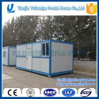 Prefab folding container house , low cost folding prefab house