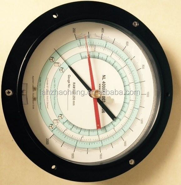 Personnalisé retour bride de raccordement double aiguille enregistrement l'humidité et manomètre