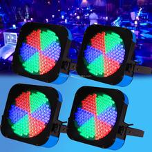 4X 20W Flat PAR RGB Can 183 LED DMX Spot Light DJ BAR Show Stage Disco Auto