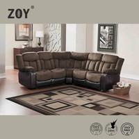 Modern Fabric & PU Sectional Round Corner Sofa Zoy-98950