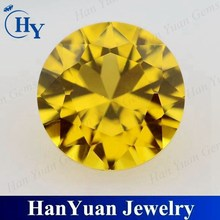 diamond cut round citrine nano gemstone