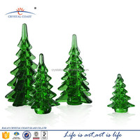 smooth green glass artificial christmas tree,colored glass pieces for crafts