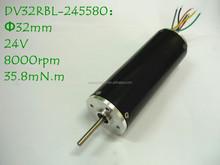 32mm 24V 8000rpm High Torque Low Noise Brushless DC Motor DV32RBL-245580