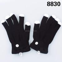 Multi Colour Flashing Fingertips LED Rave Gloves
