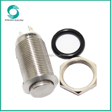 12mm momentary 1no high quality waterproof ip65 ring illuminated stainless steel push button light switch