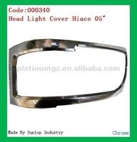 toyota body part #000340 hiace headlights cover chrome headlamp cover for toyota hiace