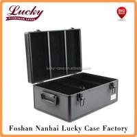 510 Disc Capacity Black Aluminum-Like Hard Plastic CD DVD Storage Case