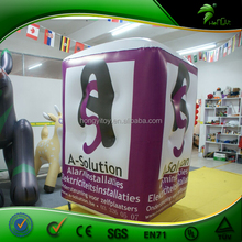 2015 Advertising Inflatable Cube Balloon PVC Inflatable Advertising Modeling with Good Quality