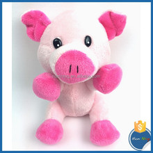 2015 promotion gift big eyes soft plush toys stuffed animal baby love doll mini pink pig
