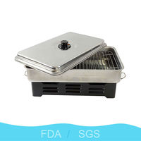 2015 best selling wholesales portable stainless steel fish pellet grill alcohol burning fish pellet for outdoor indoor bbq