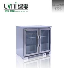 LVNI 200L,stainless steel black cooler beer cooler/commercial bar table top display cooler