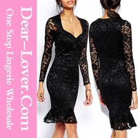 Accept drop shipping party mature ladies sex club wear With Flouncing Hemline