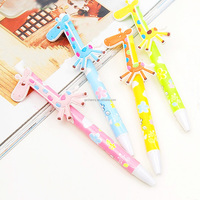 Brand New Cute Design Cute Beautiful Cartoon Giraffe Stationery Pen Ballpoint Pen Fit For Classroom Office Color Randomly
