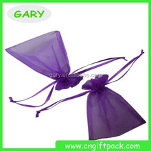 Chinese Cheap Small Drawstring Organza Pouch With Ribbon