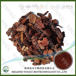 100% natural 95% OPC proanthocyanidins powder form and bark part pine bark extract