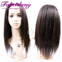 2015 Best selling wig brazilian human hair yaki lace front wig